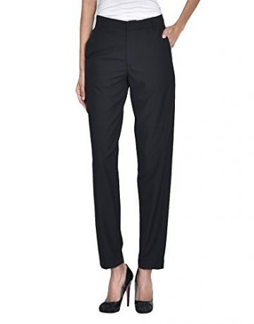 blue black womens trousers