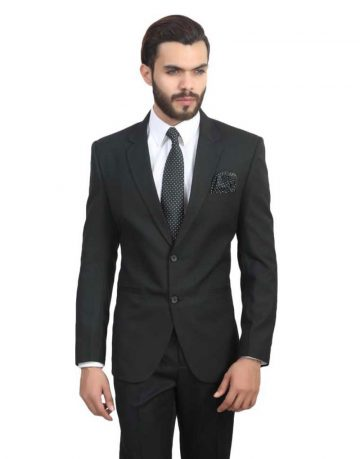 Black Blazer for Men - Full Sleeves