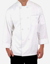 white full sleeves chef coat for men