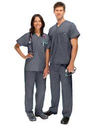 grey Medical Uniform Scrub - Half Sleeve
