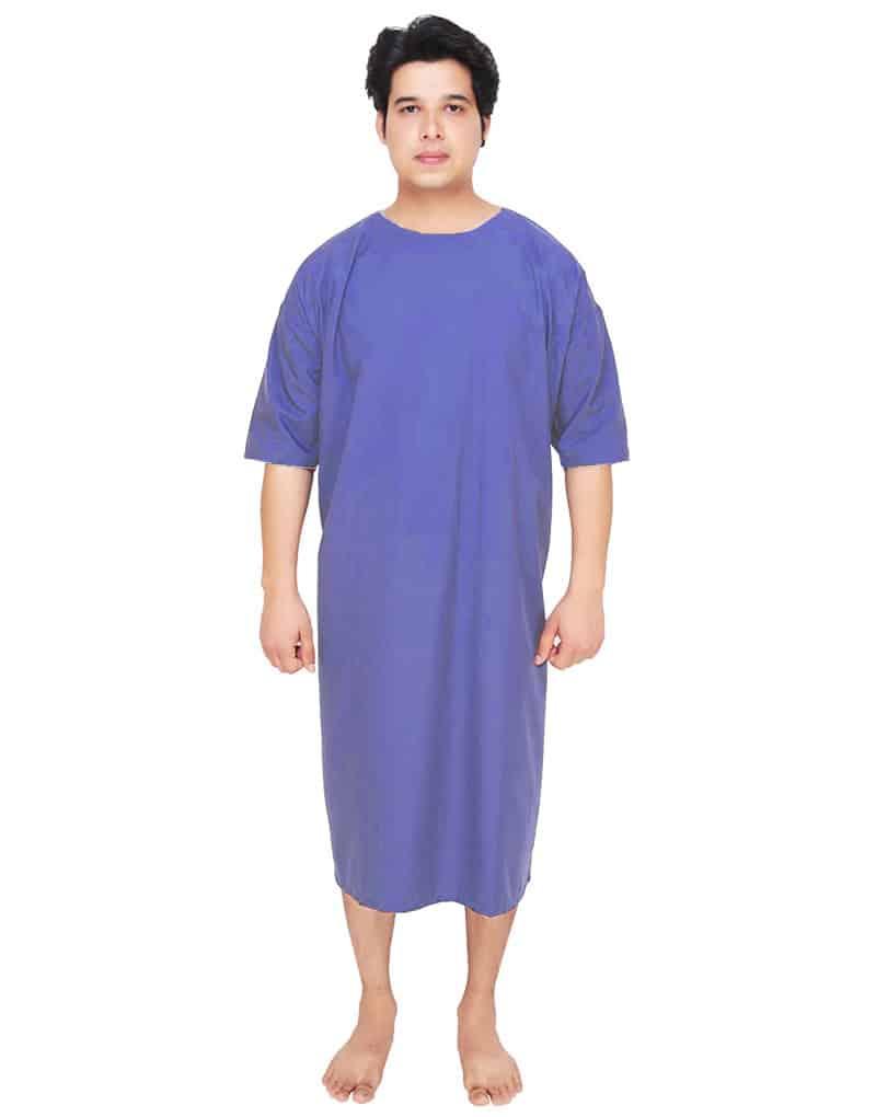 patient-gown-blue