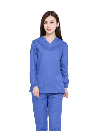 Blue Medical Uniform Scrub - Full Sleeve