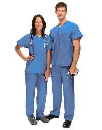 Blue Medical Uniform Scrub - Half Sleeve