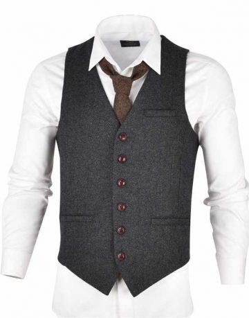 Black Waistcoat for Men