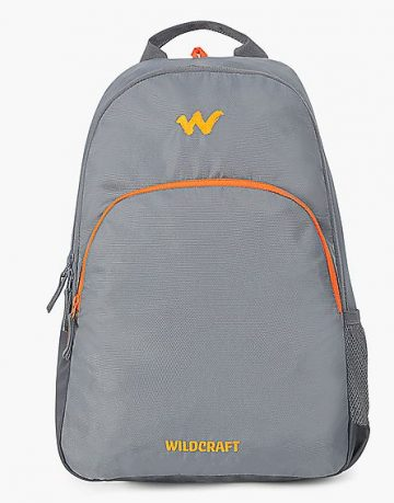 Unisex Grey Compact Laptop Backpack