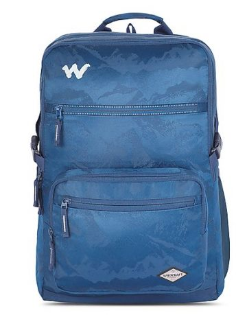 large blue bags and backpacks wildcraft