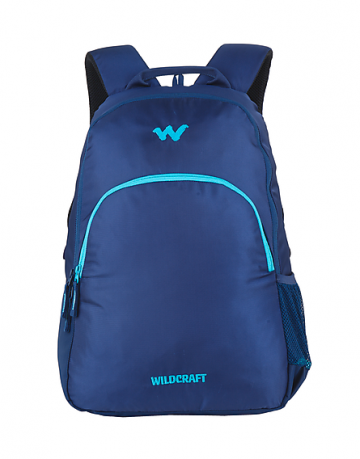 Blue compact laptop backpack