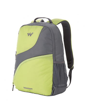 green and grey bags and backpacks wildcraft