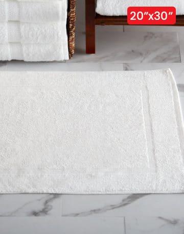 White Bath Mat - Floor Towel - 1PC (20x30)
