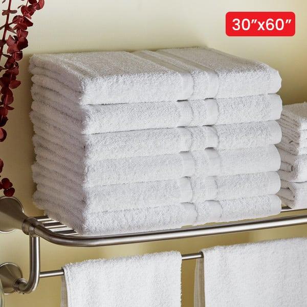 classic white bath towels