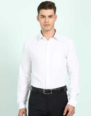 Men's White Formal Shirt