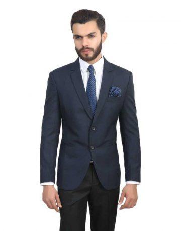 Navy Blue Blazer for Men - Full Sleeves