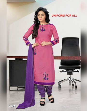 Pink Crepe Designer Uniform for all Chudidhar