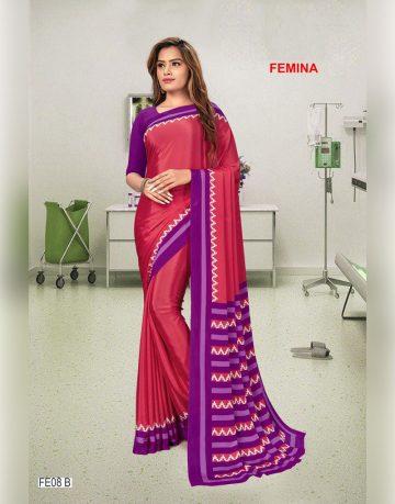 Womens Femina Uniform Saree
