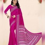 Buy printed crepe silk saree