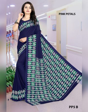 Grey and Blue Uniform for All Saree