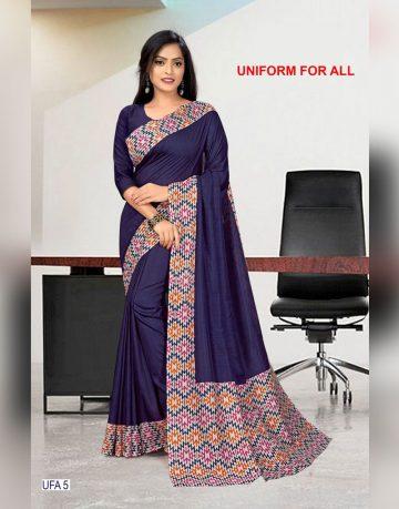Purple Crepe Uniform for all Saree