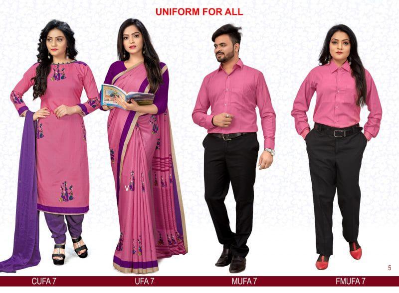 Pink Designer Uniform for all saree