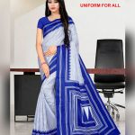 Blue and white uniform for all saree