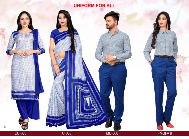 Light Blue Stripes Uniform for all Chudidar