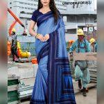 Blue Stripes Uniform for All Saree