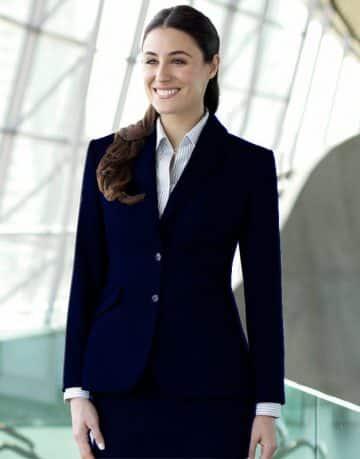 Women's Full Sleeves Navy Blue Blazer