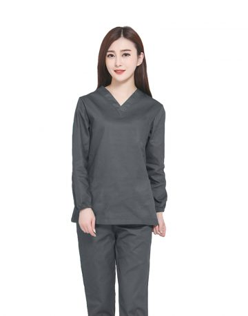 Dark Grey Medical Uniform Scrub - Full Sleeve