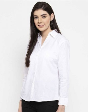 Women's White Formal Shirt