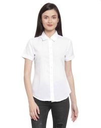 Women's Half Hands White Shirt Fabrics
