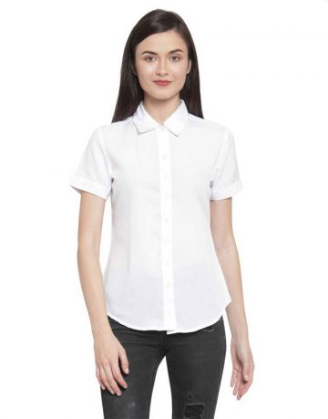 Women's Half Hands White Shirt Fabrics