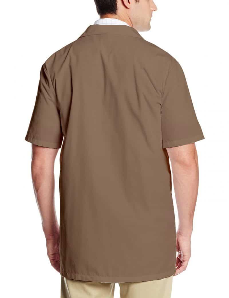 Brown Lab Coat - Half Sleeve (Khaki)