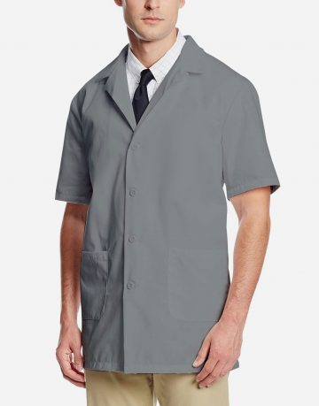 Grey Lab Coat - Half Sleeve