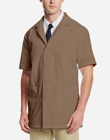 Brown Lab Coat - Half Sleeve