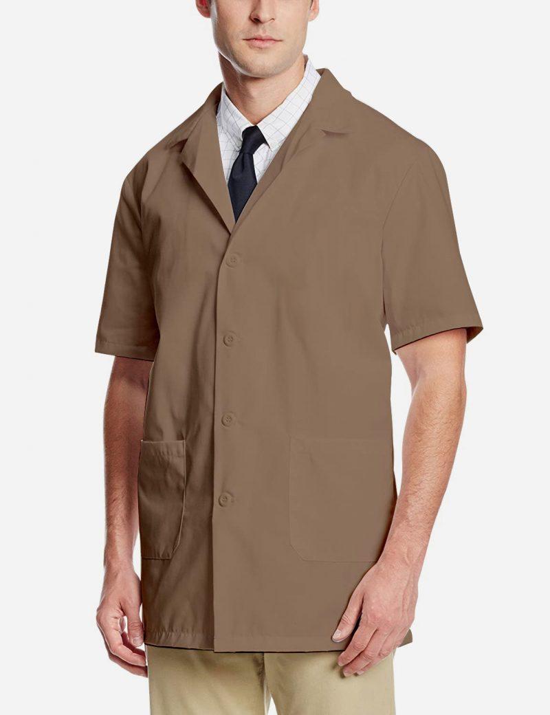 Brown Lab Coat - Half Sleeve