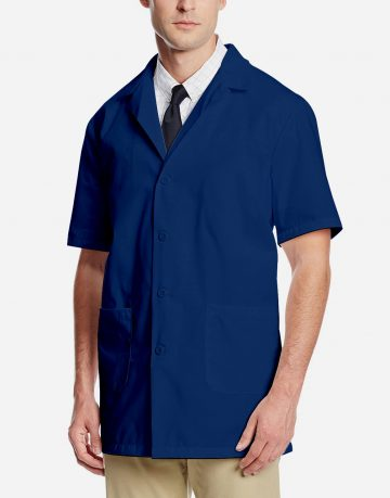 Navy Blue Lab Coat - Half Sleeve