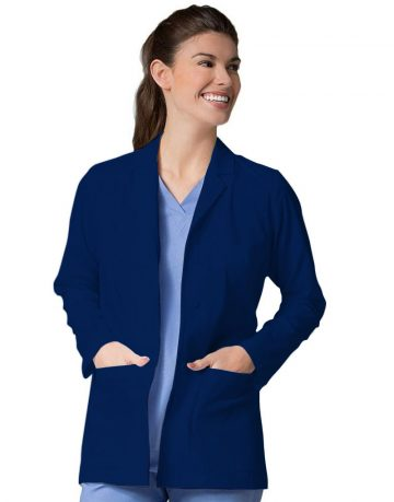 Navy Blue Lab Coat - Full Sleeves
