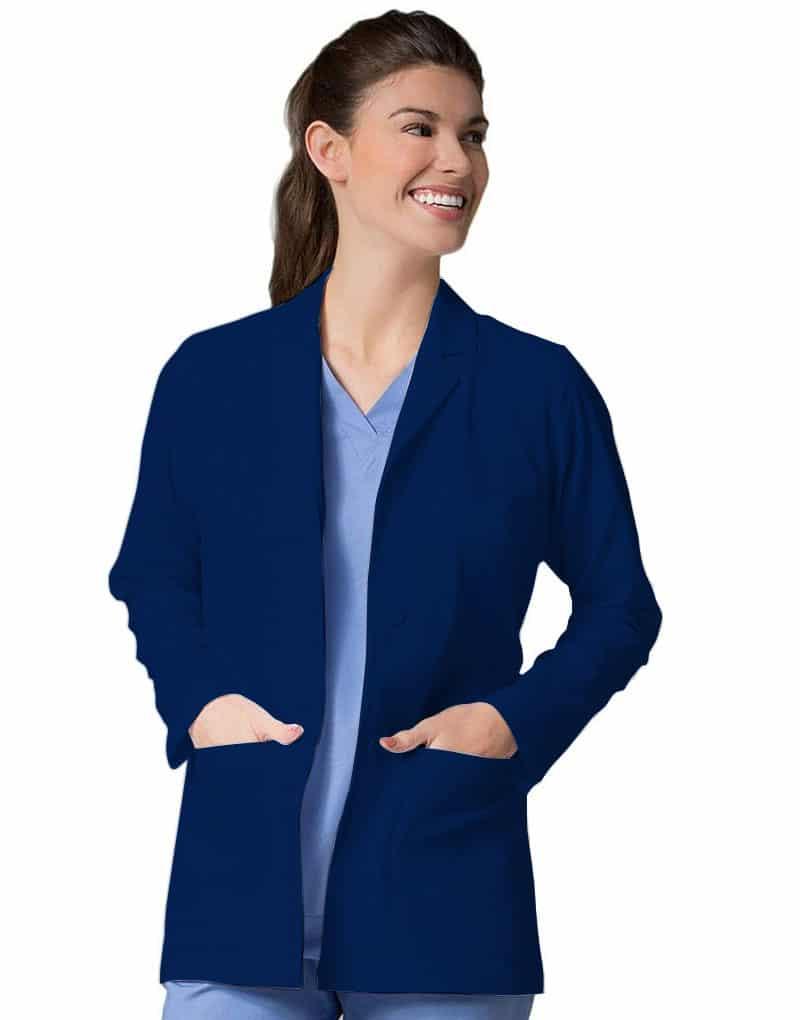 Navy Blue Lab Coat - Full Sleeves