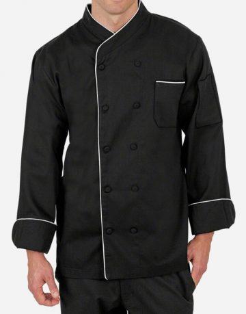 Premium black chef coat for men
