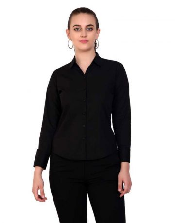 Women's Black Formal Shirt