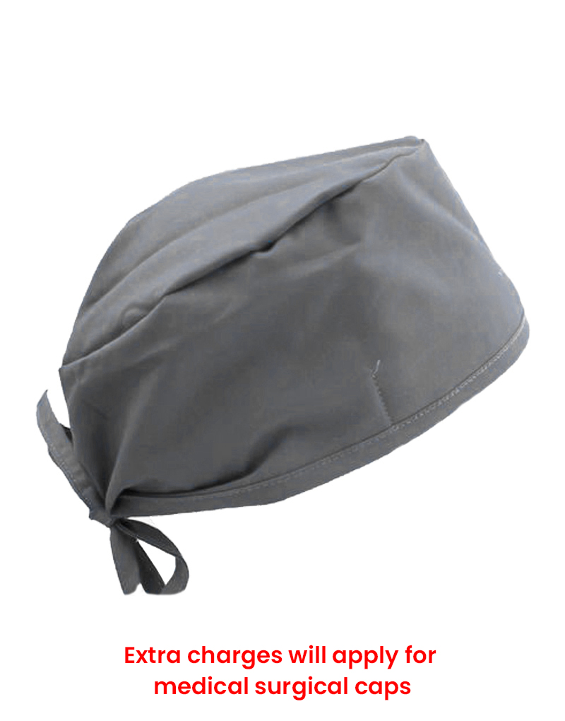 scrub cap dark grey
