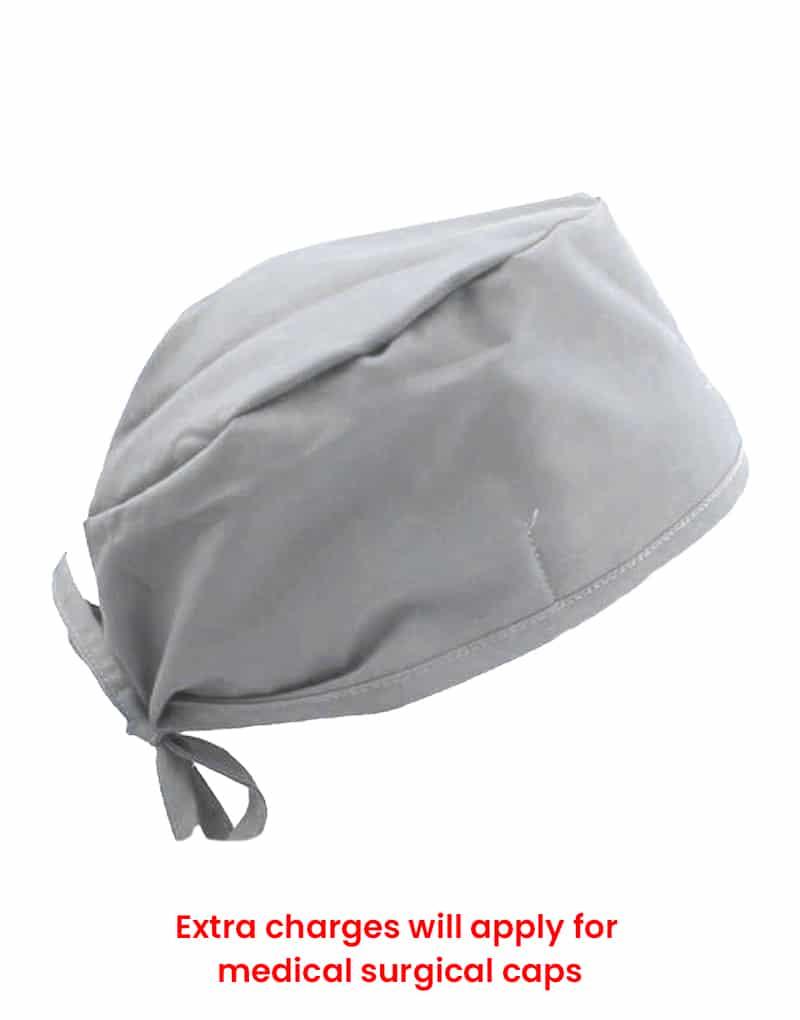 scrub cap light gray
