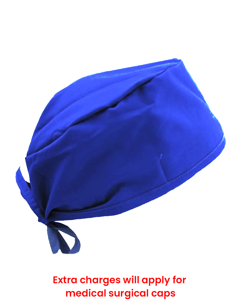 scrub cap royal blue