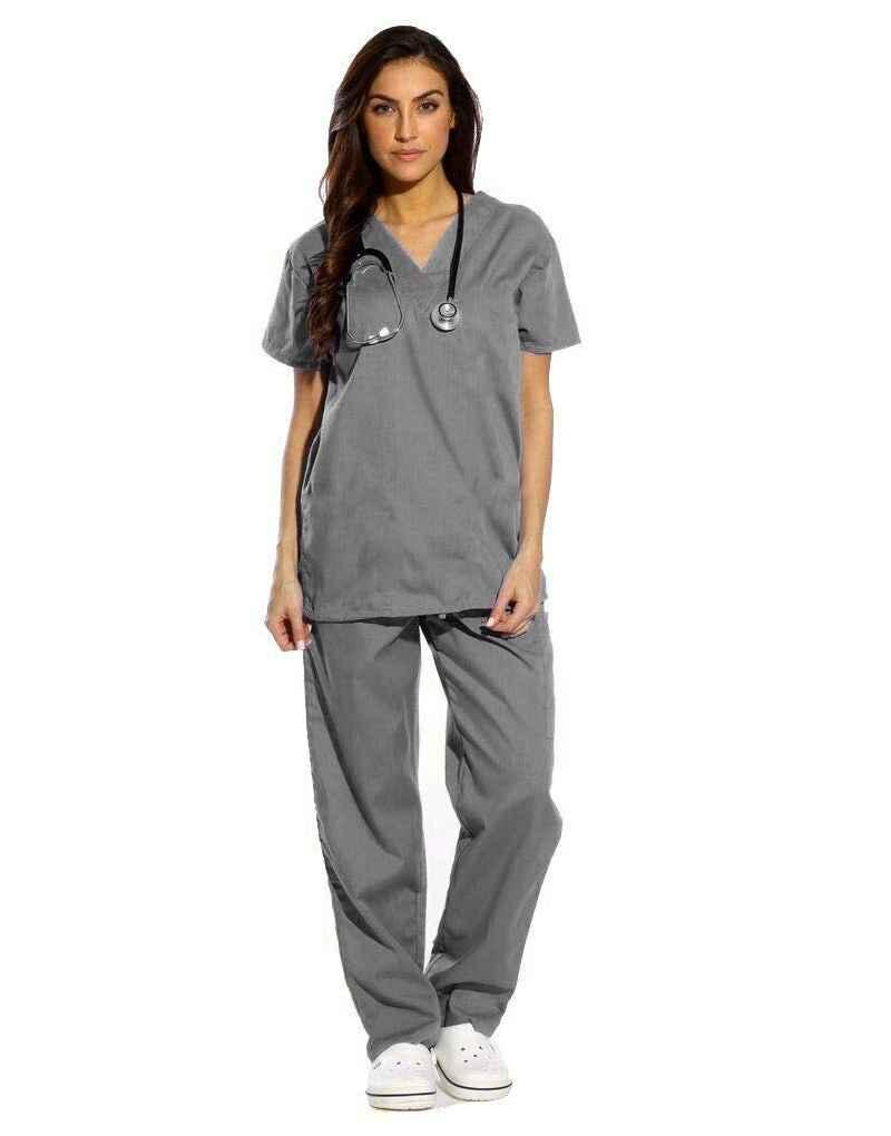 Dark Grey Scrub Half Sleeve All-Day Medical Scrubs