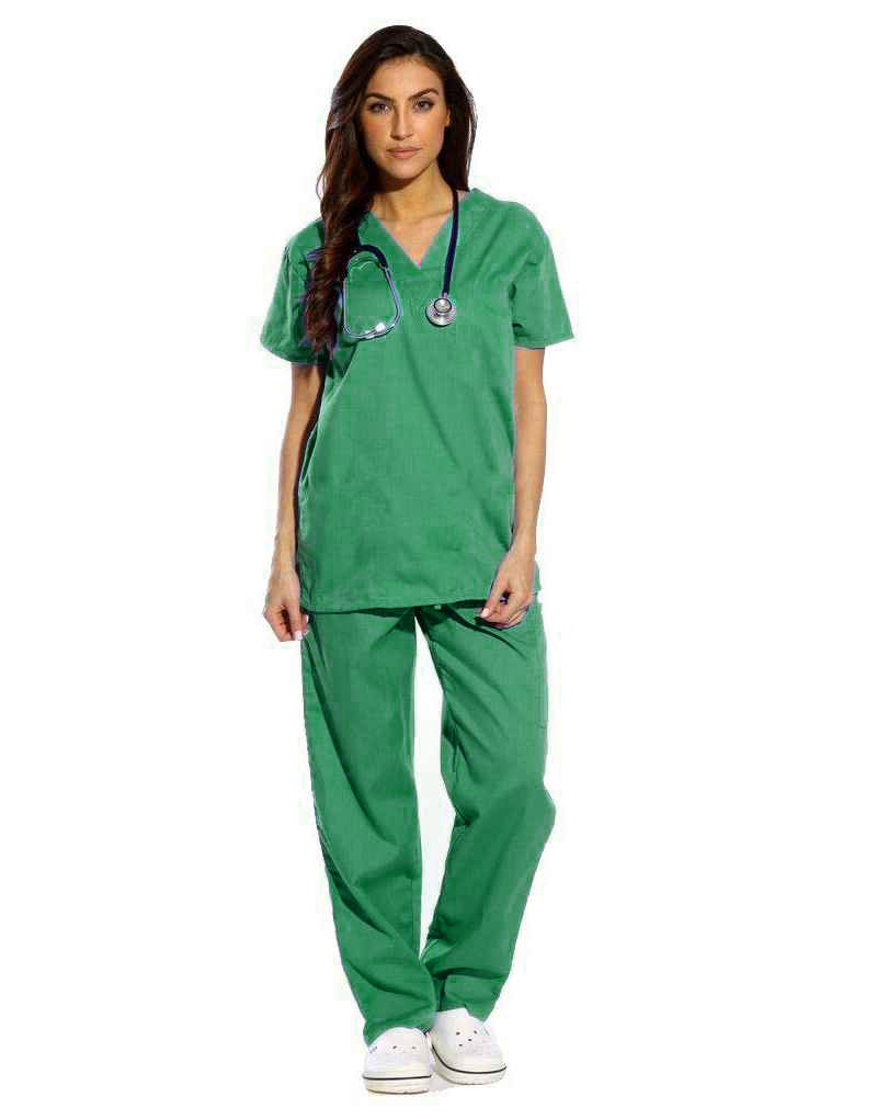 Spinach Green Half Sleeve All-Day Medical Scrubs