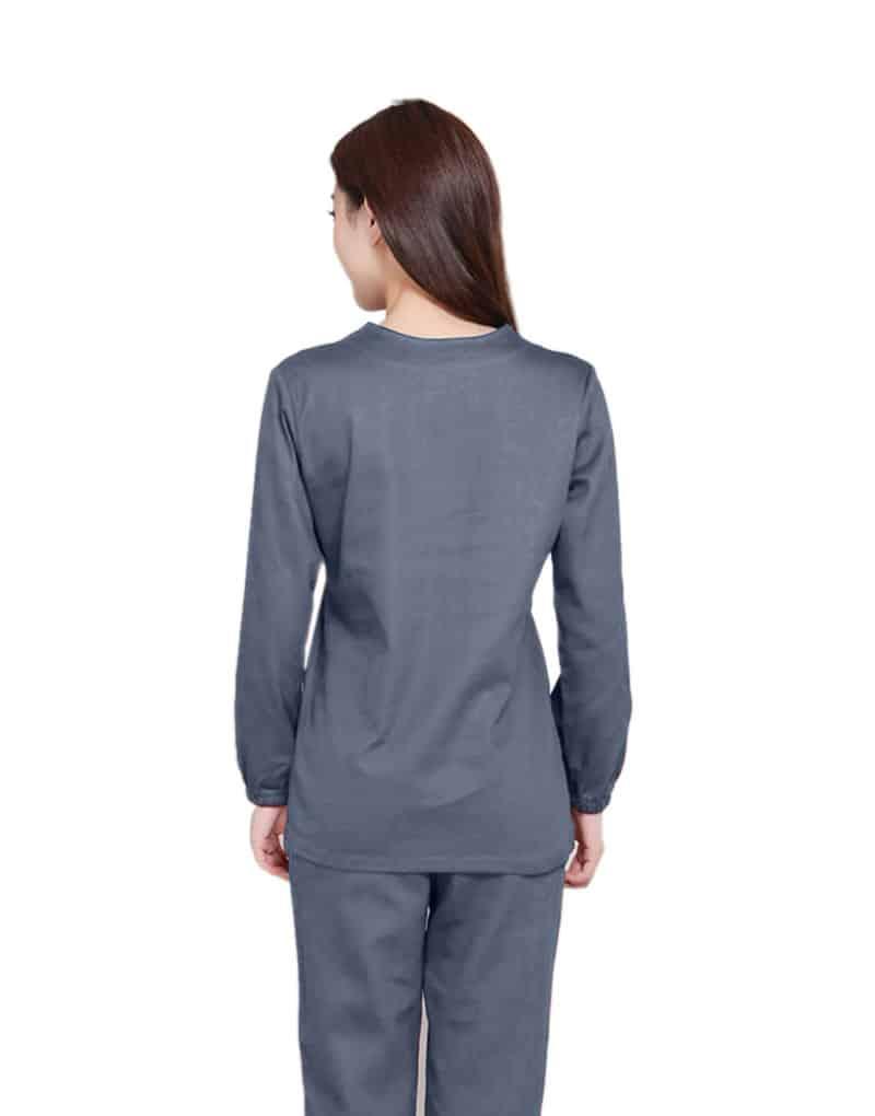 Grey Medical Uniform Scrub - Full Sleeves