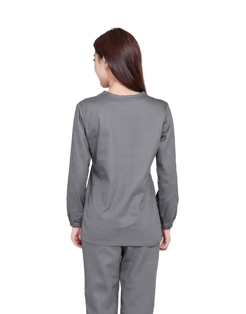 Light Grey Medical Uniform Scrub - Full Sleeve