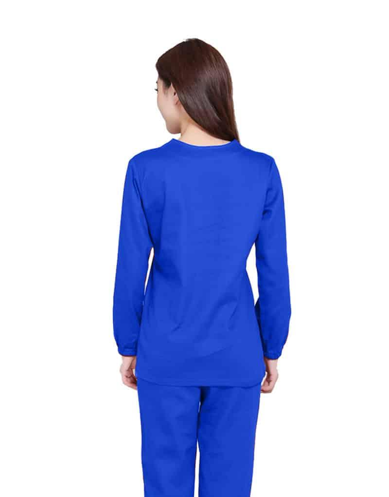 Royal Blue Medical Uniform Scrub - Full Sleeve