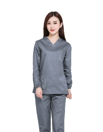Grey Medical Uniform Scrub - Full Sleeves