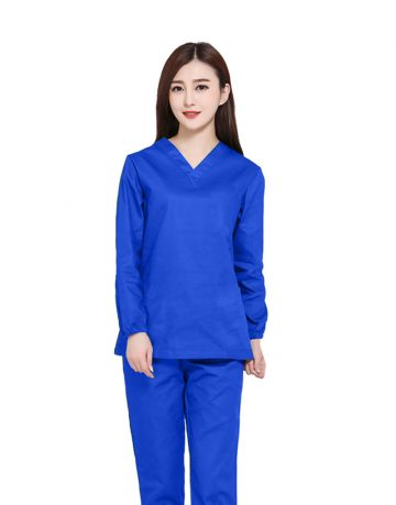 Royal Blue Medical Uniform Scrub - Full Sleeve