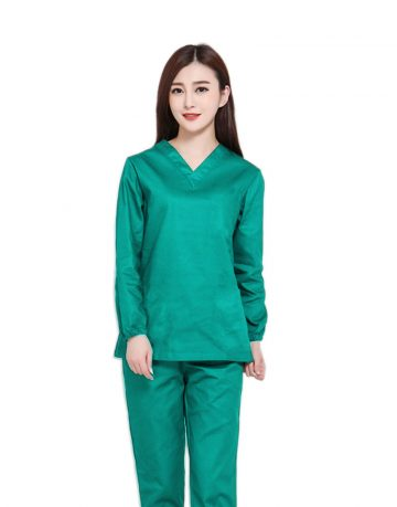 Sea Green Medical Uniform Scrubs- Full Sleeve
